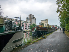 (christophemo) Tags: nancy villedenancy lorraine france meurtheetmoselle berges quai canal voienavigable pniche bateau moulin vilgrain pluie