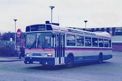 OOX817R Lichfield Oct 1986 (Walsall1955) Tags: wmpte westmidlandspte bus wmt westmidlandstravel 1817 6817 oox817r timesaver rapidrider 901 lichfield leylandnational