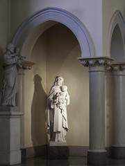 St Rose with St Joseph (Lawrence OP) Tags: dominican nuns monastery buffalo ny marble statue sculpture strose roseoflima tertiary saint