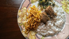 Rice and Curry (Ashen Monnankulama) Tags: rice curry cuisine sri lankan food fish lasia spinosa water spinach
