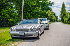 Jaguar in Innisfil, Ontario (Gerald Lau) Tags: jaguar xjr x350 2004 innisfil ontario platinum silver v8 supercharged