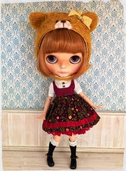 Lucky girl 💖 Rylee modelling our fabulous new dress & hat from Blythefest 2016 💞