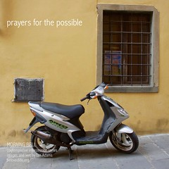 No2 in series 'in our prayers (contemplative intercession)' #stillness #contemplation #prayer #Cortona #shrine #scooter #motorbike #motorcycle #possibilities (morningbell2u) Tags: stillness contemplation prayer cortona shrine scooter motorbike motorcycle possibilities