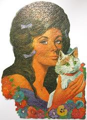 Lavender Lady (Leonisha) Tags: puzzle jigsawpuzzle woman frau katze cat fairchild