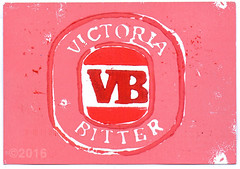 From Anthony Cook (tofuart) Tags: pink pinkweek mixedmedia postcard beer victoria bitter australia print