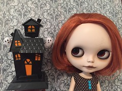 Jillian is ready to start decorating for Halloween.