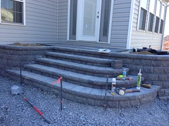 construction (12) (The Sharper Cut Landscapes) Tags: belgardhardscapes backyard landscapedesign landscaping landscapecompany landscapelighting patio pavers plantings seatwall steps retainingwall thesharpercutlandscapes thesharpercut
