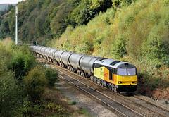 Tanks And Turning Trees. (Neil Harvey 156) Tags: railway 60087 clicsargent doverbridge eastwood todmorden caldervalley prestondockstanks prestontanks bitumentanks 6e32 class60 colasrail colas tug