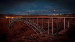 Glen Canyon Bridge (AndreasN) Tags: southwest page arizona desert bridge us usa united states outdoor canyon long exposure night travel road trip