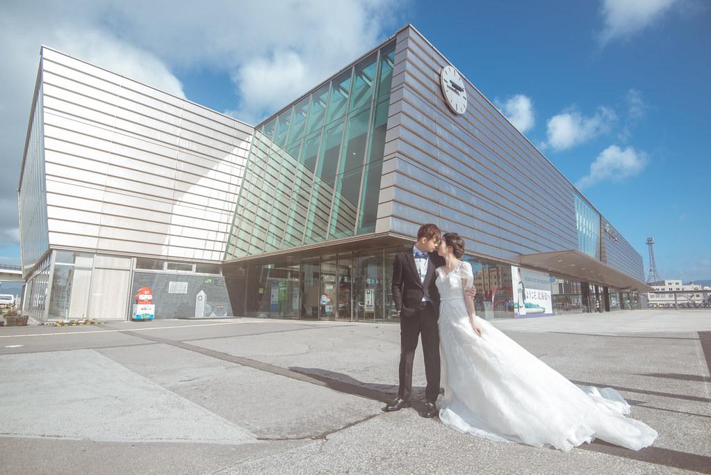 日本北海道婚紗,函館婚紗,函館車站婚紗,日式風格婚紗,海外婚紗