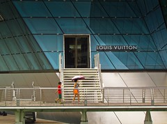 When she gets there she knows, if the stores are all closed With a word she can get what she came for. Ooh, ooh, and she's buying a stairway to heaven. (Bonsailara1) Tags: singapore singapur store louisvuitton umbrella sands marinabay