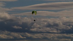 Migs in front of an ominous sky (overflow50) Tags: paragliding paraglider canberra springhill spring australia sky clouds