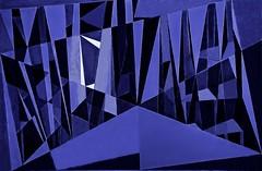 Mood Indigo (bill_giddings) Tags: moodindigo aprocessedversion original modernfineart stilllife paintedinageometricstyle artnouveau modernart postmodernart contemporaryart surrealism cubism abstract artdeco colour blue indigo black space perspective nearandfar shadows lightanddark jazz shapes lines patterns illumination nikon