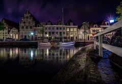 Canal Reflections (Explored 20-9-2016) (mcalma68) Tags: harbour hoorn architecture boat night hdr