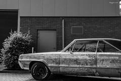 Super Dynamic (ericbaygon) Tags: car american amricaine noiretblanc bw blackwhite d300s nikon nikonpassion meeting tires rusty brick brique