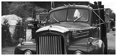 Fire WOOD $50 (daveelmore) Tags: mack macktruck truck dumptruck b61 thermodyne diesel blackwhite bw stitchedpanorama panorama firewood manualfocus legacylens penfm43adapter hzuiko42mm112