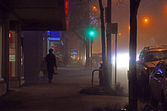 Dunbar Street (Bad Kicker) Tags: night street fog mist urban city
