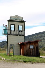 Welcome to Dawson City (demeeschter) Tags: canada yukon territory klondike highway river town city dawson business street ferry shops museum goldrush heritage national park historical architecture jack london paddlewheeler