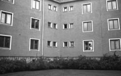 Buildings (Nils Kristofer Gustafsson) Tags: blackandwhite bnw ishootfilm retro rollei 400s lomo lomography sweden örebro keepfilmalive filmisnotdead filmphotography film rodina adonal yashica electro cc 35mm