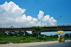 Beautiful Sky (Rajiv Ashrafi) Tags: dhaka bangladesh sonyrx100 sky color blue flyover bypass car road street clouds whiteclouds summer