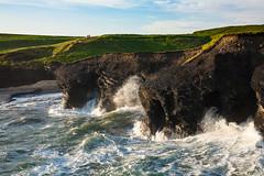 Kilkee Cliffs (JBStenger) Tags: kilkee countyclare ireland irish cliff cliffs waves sea hills green pounding battering hikers walking