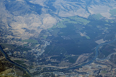 Aerial view of the Sacramento River and Red Bluff, Tehama County, California (cocoi_m) Tags: aerialphotograph aerial sacramentovalley nature sacramentoriver redbluff tehamacounty california i5 interstate5