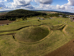 "KAP Shot of ""The World of the Celts at the Glauberg (Keltenwelt am Glauberg)"" Looking SW (Jim Knowles (West Lothian Archaeological Trust)) Tags: kap kite aerial photography west lothian archaeological trust group drachenclub la tene civilization hessen celtic germany world prince glauberg warrior sculpture der mistel misteltoe"