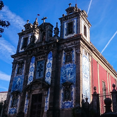 Porto churches 3 (flickrolf) Tags: blue white church tiles sky cluds