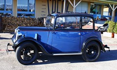 "0845 Austin 7/ 1936 Type ACA ""New"" Pearl Cabriolet. (Fotomouse) Tags: fotomouse flickr oldtimer auto car blau blue austinseven outdoor draussen alteauto vermutlich1937 fahrzeug reifen"