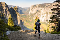 Yosemite Valley (Geoff Livingston) Tags: woman hike trail run runner mountain valley autumn fall landscape california nationalpark fypx nationalparkfoundation nationalparks