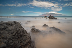 natural pastels (rol-and) Tags: sky longexposure shore beach maui coast mountains ocean pastels loxia2821 zeiss landscape e hawaii pacific sea