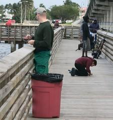 Fishing Pier Still-life copy (LarryJay99 ) Tags: people fishermen pier fishing men male man guy guys dude dudes urban urbanscape water watersedge profile