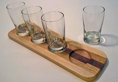 Beer Flight (Smile Moon) Tags: beer flight plank glass glassware taster barware homebar brew brewer brewery glasses maple walnut oak wood wooden etst smilemoon smile moon woodworks woodworking handmade handcrafted