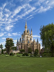 Glorious Skies over Tokyo Disneyland [Explore] (Ring of Fire Hot Sauce 1) Tags: tokyodisneyland tokyo castle vertorama