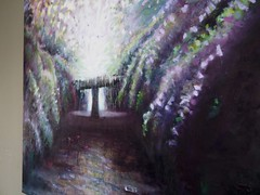 Fountain of Life - hanging (Helen White Photography) Tags: sacredfeminine divinefeminine garden return sacred secret pathway fountain light ethereal helen white artist oiloncanvas oilpainting art contemporary spiritual