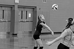 IMG_10436 (SJH Foto) Tags: girls volleyball high school lampeterstrasburg lampeter strasburg solanco team tween teen east teenager varsity libero bump black white blackandwhite bw monocolour