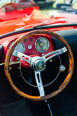 Beware of splinters (GmanViz) Tags: gmanviz color nikon d7000 car automobile detail 1957 fiat roadster steeringwheel dashboard interior