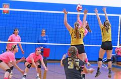 IMG_9944 (SJH Foto) Tags: girls volleyball high school lampeterstrasburg lampeter strasburg solanco team tween teen east teenager varsity net battle spike block action shot jump midair