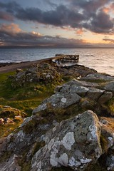 Portencross sunset (Ayrshire & Arran Photo (Richard Cottrell)) Tags: sunset landscape coast scotland pier europe harbour places arran ayrshire portencross ayrshirecoast