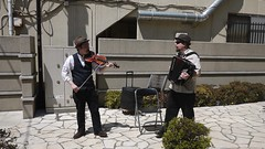 Violin & Concertina (randomwire) Tags: public theatre performance violin concertina  kenji bikkuridaidogei