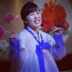 Yanji, China DPRK Show (Joseph A Ferris III) Tags: show china cute girl restaurant hanbok waitress northkorea yanji chosnot liujinghotel