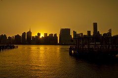 Sunset Over NYC (Moniza*) Tags: city nyc newyorkcity sunset ny newyork silhouette skyline skyscraper sunrise dawn twilight nikon downtown cityscape manhattan midtown explore queens hunterspoint eastriver astoria gothamist bluehour longislandcity astoriapark gothamcity thebigapple d90 gantryplazastatepark explored moniza