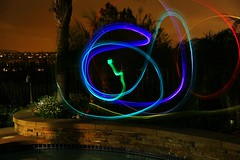 Painting with light (Mike.Catalano) Tags: light colors night backyard paint slow shutter