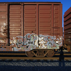 SIGH (TRUE 2 DEATH) Tags: railroad train graffiti graf trains dos railcar sigh spraypaint boxcar railways railfan freight myshadow freighttrain benching freighttraingraffiti