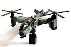 Serpent Gunship (Andreas) Tags: lego aircraft vtol gunship legovtol legogunship vtolgunship thepurgeeu stealthgunship eugunship legovtolgunship euvtol stealthtiltrotor