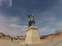 03 - Louis XIV - 20130412 (chriggy1) Tags: day2 horse france statue ledefrance versailles april fra louisxiv chateaudeversailles 2013 gopro