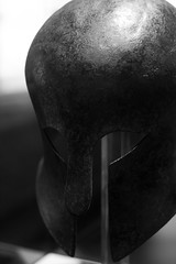 Corinthian helmet b&w (marios_h) Tags: helmet leeds armor weapon armour militaryhistory warfare royalarmouries royalarmouriesleeds leedsroyalarmouries corinthianhelmet ancienthelmet ancientgreekhelmet historicalwarfare