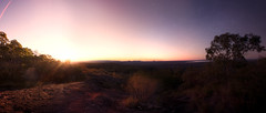 Mt Tinbeerwah (iamhereandlost) Tags: light panorama sun stars landscape evening twilight mt panoramic flare tinbeerwah