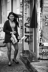 Glücklich (kohlmann.sascha) Tags: street people blackandwhite bw woman berlin monochrome de deutschland photography photobooth fotografie place traffic streetphotography streetportrait technik menschen cobblestones monochrom frau schwarzweiss technique verkehr friedrichshain ort mensch candidportrait fotoautomat kopfsteinpflaster schwarzweis strase schwarzwei§ stra§e streetfotografie strasenfotografie stra§enfotografie sadloneliness