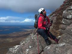 Sheila belays (Adrian Fagg) Tags: scotland highlands benmorecoigach